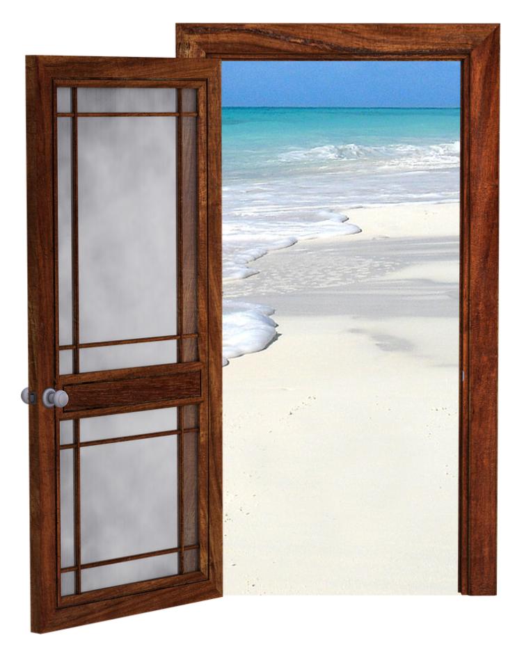 door to ocean